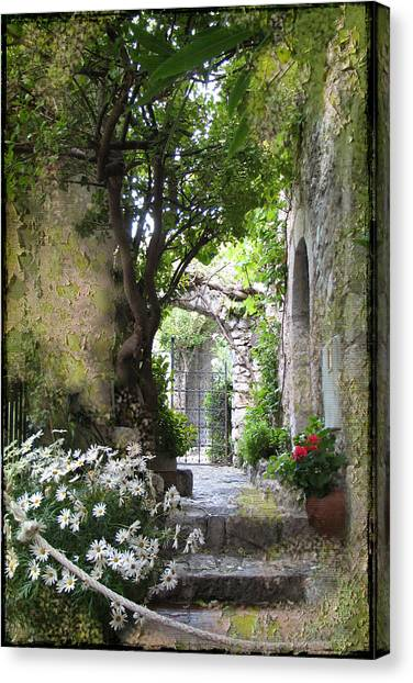 Inviting Courtyard Canvas Print