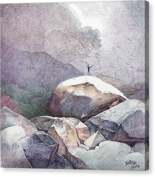 Invocation Canvas Print by Shirish Deshpande