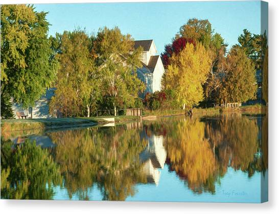 Iola Mill Fall View Canvas Print