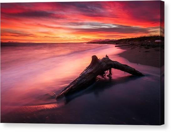 Iona Beach Sunset Canvas Print
