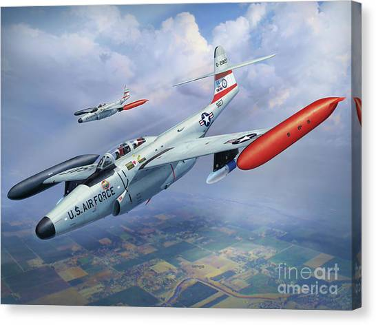 National Guard Canvas Print - Iowa Ang F-89j Scorpion by Stu Shepherd