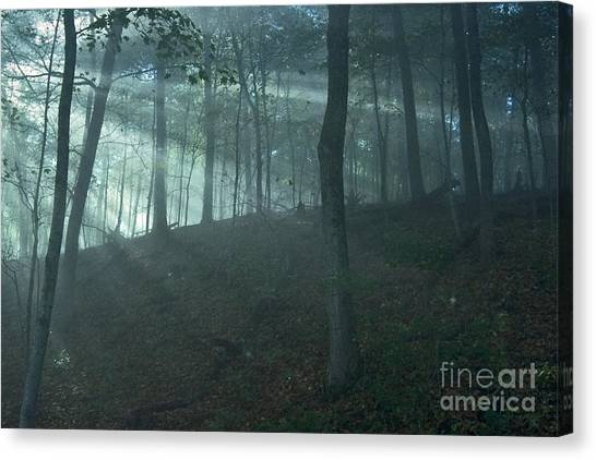 Iowa Fog Rays Canvas Print