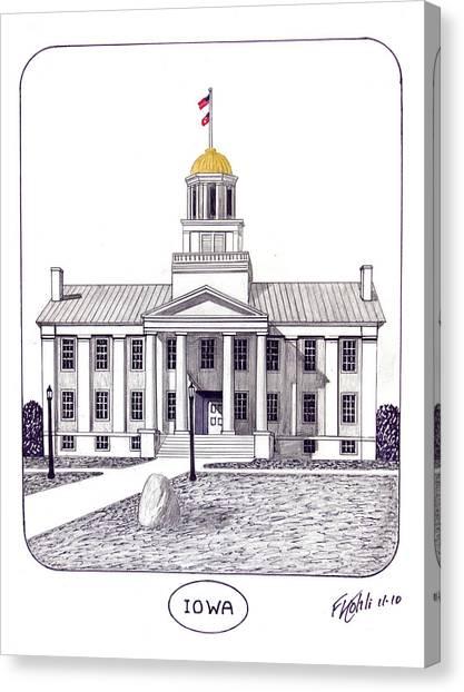 University Of Iowa Canvas Print - Iowa by Frederic Kohli