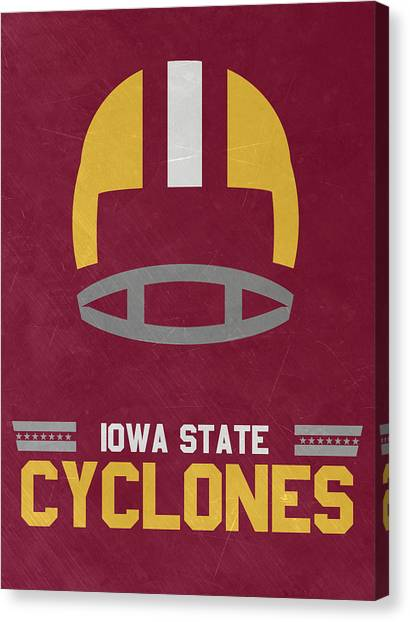 Iowa State University Canvas Print - Iowa State Cyclones Vintage Football Art by Joe Hamilton