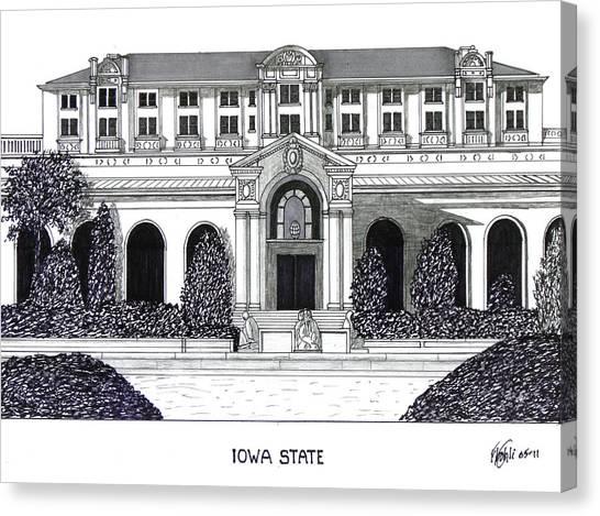 Iowa State University Canvas Print - Iowa State by Frederic Kohli