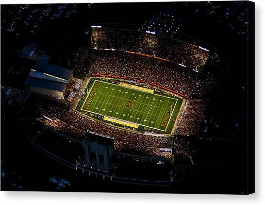 Cyclones Canvas Print - Iowa State Jack Trice Stadium Aerial  by Iowa State