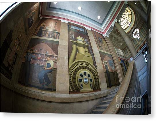 Iowa State University Canvas Print - Iowa State Library Murals by David Bearden
