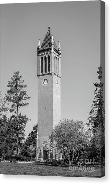 Iowa State University Canvas Print - Iowa State University Campanile by University Icons
