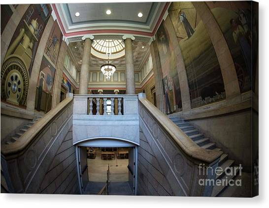 Iowa State University Canvas Print - Iowa State University Library by David Bearden