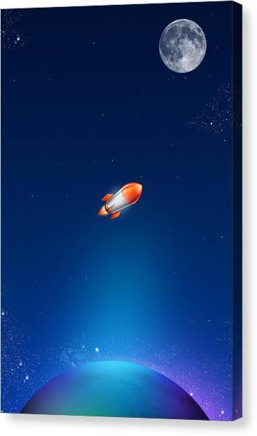 Rocket Canvas Print - iPhone Case by Liliia Mandrino