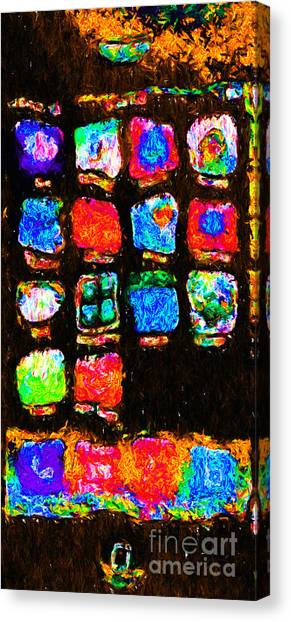Iphone In Abstract Canvas Print