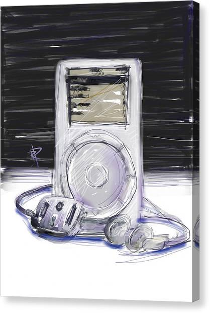 iPod Canvas Print by Russell Pierce