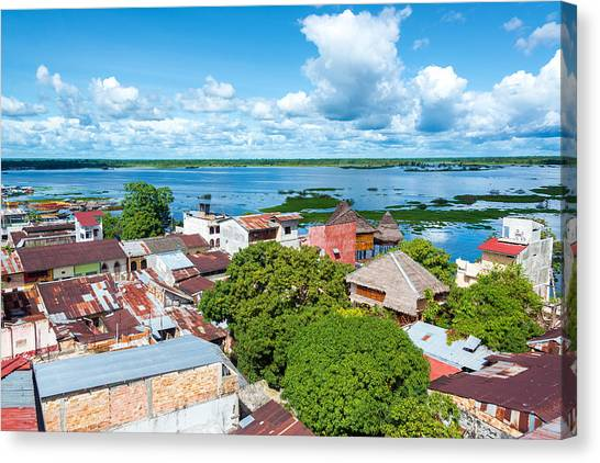 Amazon River Canvas Print - Iquitos And River by Jess Kraft