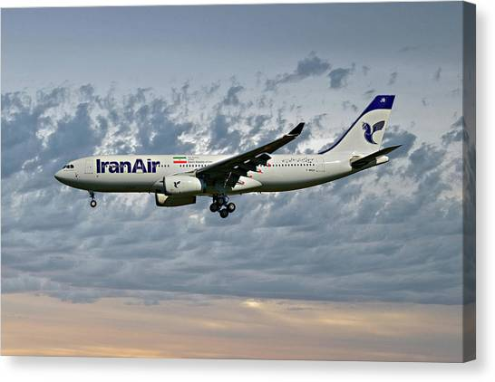Iranian Canvas Print - Iran Air Airbus A330-243 113 by Smart Aviation