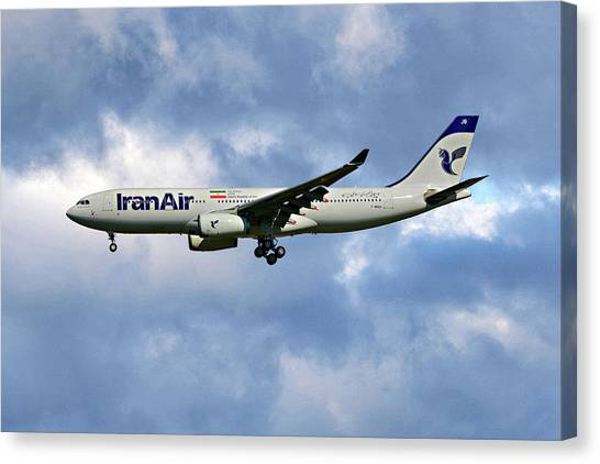 Iranian Canvas Print - Iran Air Airbus A330-243 118 by Smart Aviation