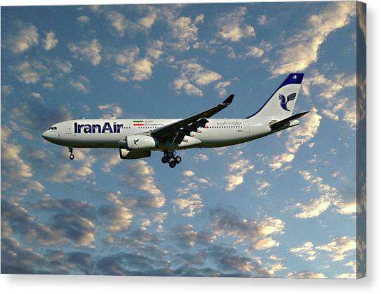 Iranian Canvas Print - Iran Air Airbus A330-243 119 by Smart Aviation
