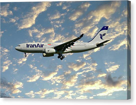 Iranian Canvas Print - Iran Air Airbus A330-243 120 by Smart Aviation