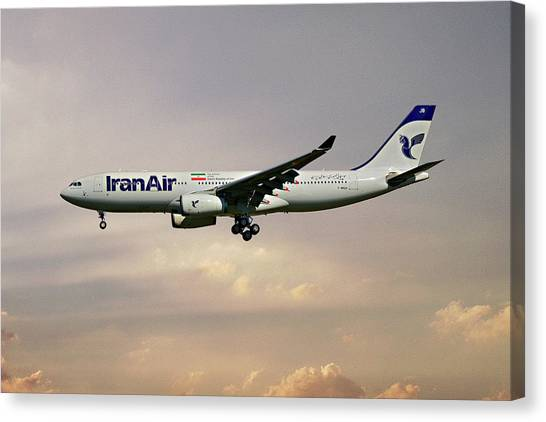 Iranian Canvas Print - Iran Air Airbus A330-243 121 by Smart Aviation