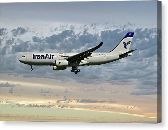 Iranian Canvas Print - Iran Air Airbus A330-243 114 by Smart Aviation