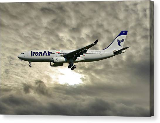 Iranian Canvas Print - Iran Air Airbus A330-243 115 by Smart Aviation