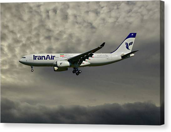 Iranian Canvas Print - Iran Air Airbus A330-243 116 by Smart Aviation