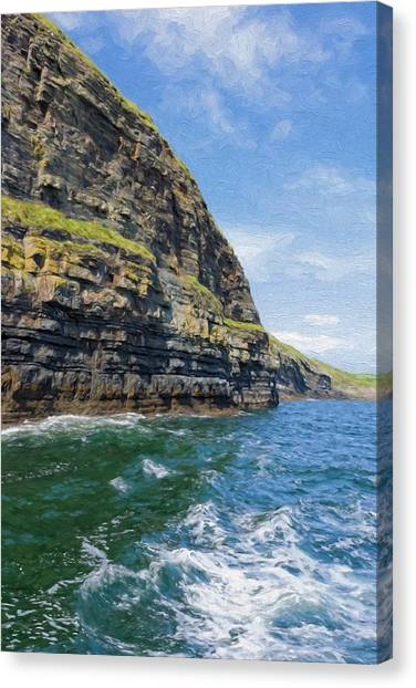 Ireland Cliffs Canvas Print
