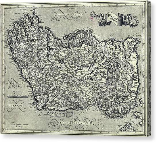 Waterford Canvas Print - Ireland Map Ca 1635 by Jon Neidert