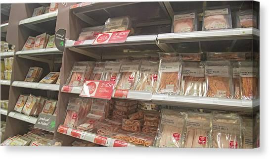 Ham Canvas Print - Ireland Yummy Food Shopping Time by Betsy Knapp