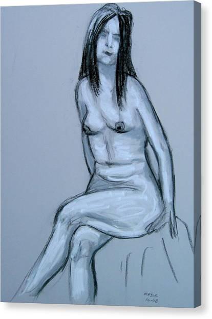 Irene Resting Canvas Print