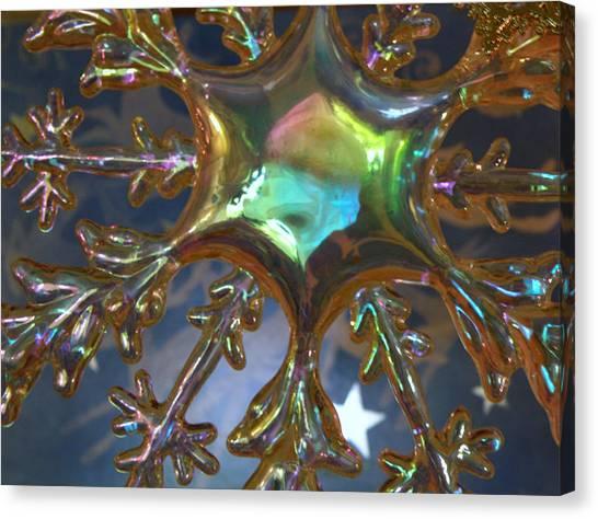 Iridescent Snowflake Canvas Print