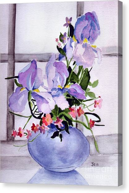Iris Bouquet Canvas Print by Ann Gordon