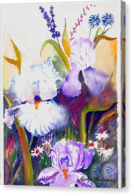 Iris Canvas Print by George Markiewicz