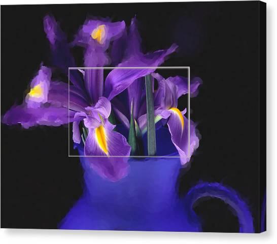 Iris In Blue Picture Canvas Print by Daniel D Miller