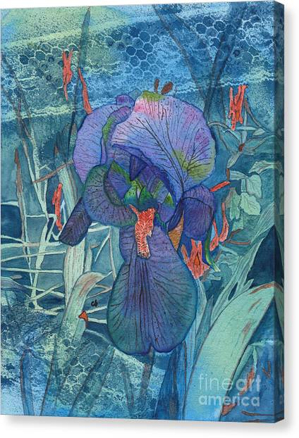 Iris Lace With Wild Columbine Canvas Print