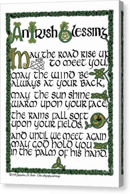 Irish Blessing Canvas Print