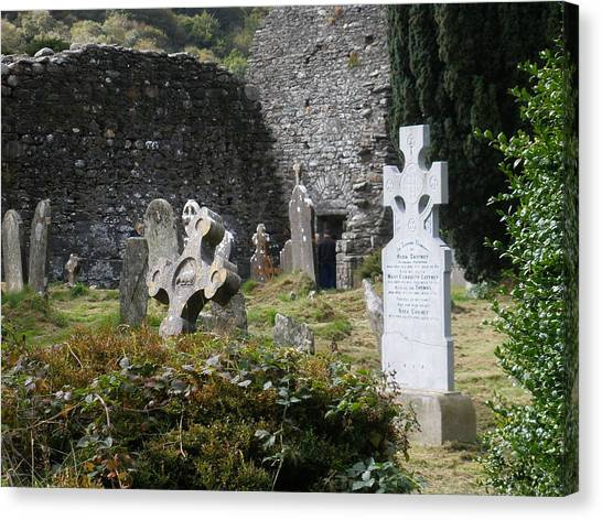 Irish Graves Canvas Print by Siobhan Yost