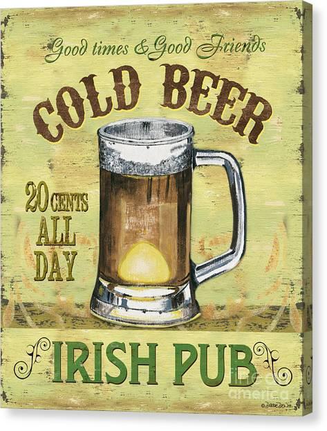 St. Patricks Day Canvas Print - Irish Pub by Debbie DeWitt