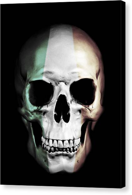 Skulls Canvas Print - Irish Skull by Nicklas Gustafsson