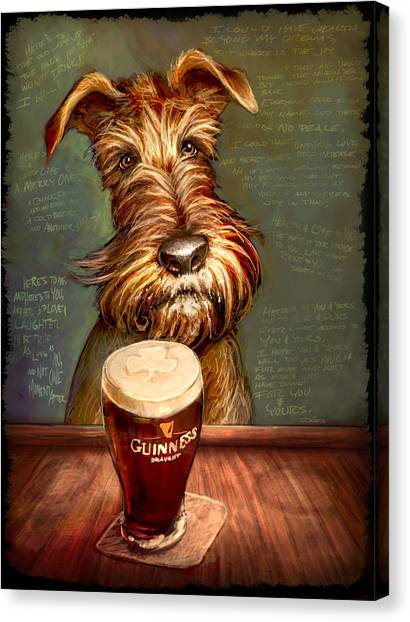 Bar Canvas Print - Irish Toast by Sean ODaniels