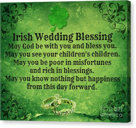 Irish Wedding Blessing Canvas Print