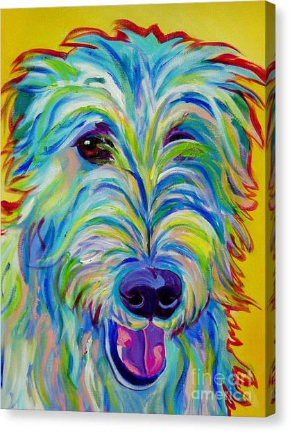 Irish Wolfhound - Angus Canvas Print