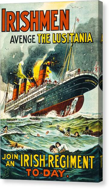 Irishman Avenge The Lusitiania Canvas Print