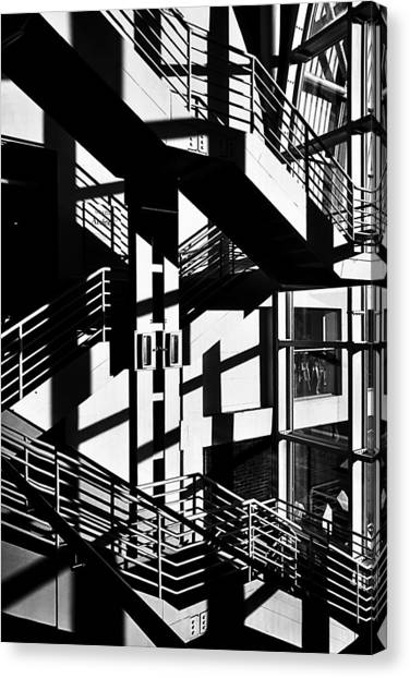 Stair Canvas Print - Iron And Glass by Alessandro Zazza