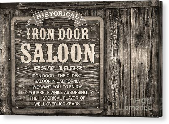 Iron Door Saloon 1852 Canvas Print