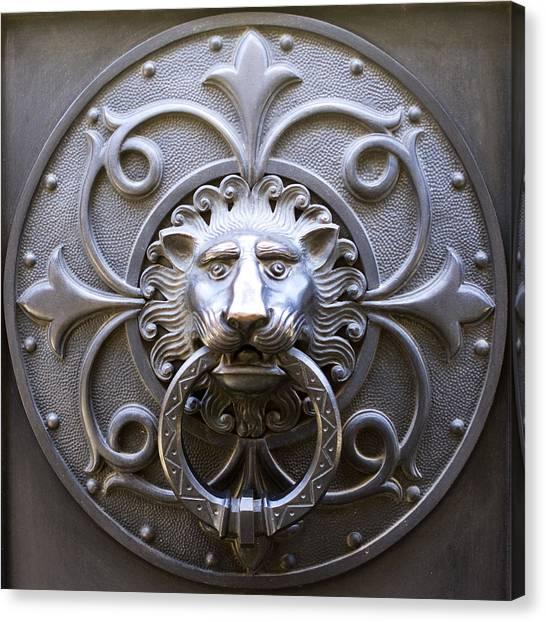 Iron Lion Canvas Print