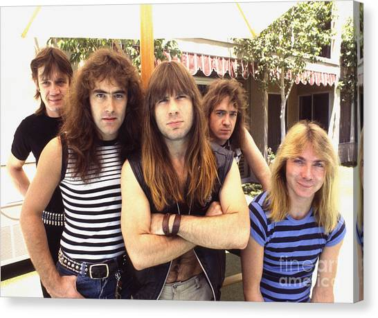 Chris Walter Canvas Print - Iron Maiden 1983 by Chris Walter