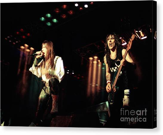 Chris Walter Canvas Print - Iron Maiden 1987 Bruce And Steve by Chris Walter