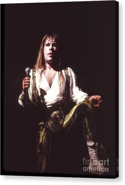 Chris Walter Canvas Print - Iron Maiden 1987 Bruce Dickinson by Chris Walter