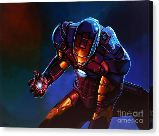 Men Canvas Print - Iron Man by Paul Meijering