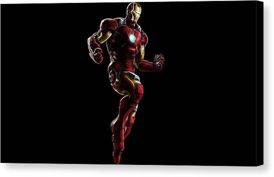 Biology Canvas Print - Iron Man by Super Lovely